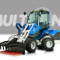 Heavy duty silage fork for mini loaders MultiOne 05