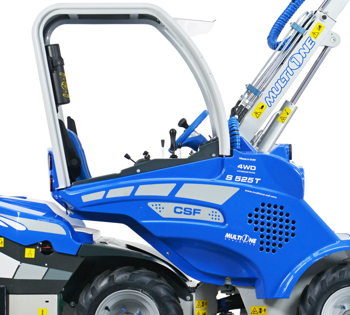 Telescopic Boom Mini Articulated Loader right side