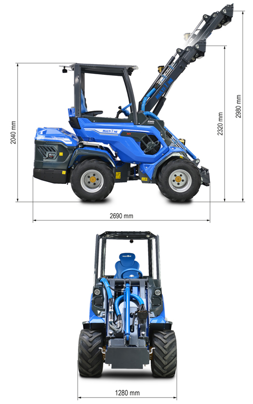 Multione 8.4+ Mini Articulated Loader Lift Height
